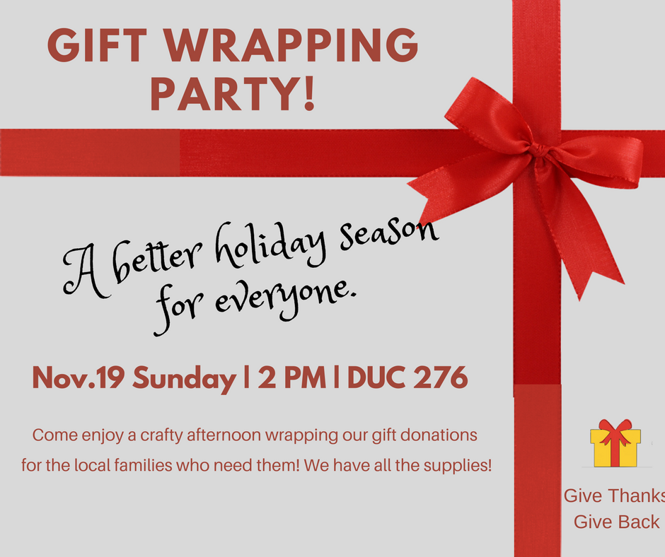 Gift wrappng party